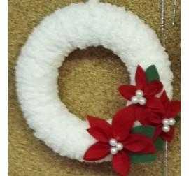 Bel božični venček